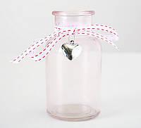 Декоративная прозрачная ваза Роза h12 cm 1011448-3 прозр