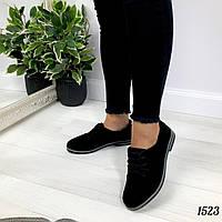 Женские туфли черные London 1523