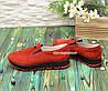 Мокасины женские замшевые на утолщенной подошве, цвет красный, фото 2