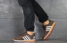 Кроссовки мужские Adidas, коричневые, фото 2