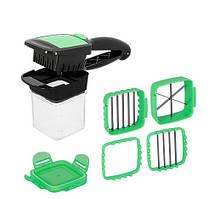 Овощерезка с контейнером NICER DICER QUICK зеленая
