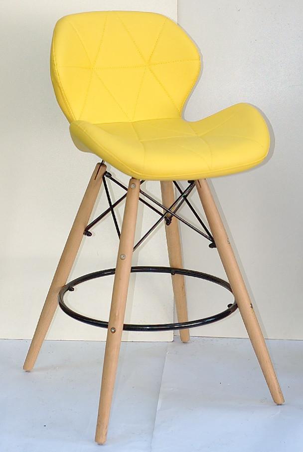 Полубарный стул Invar, желтый