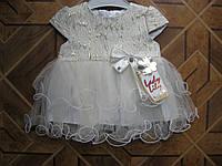 Нарядное летнее платье для маленькой принцессы  80-86 cm  Турция
