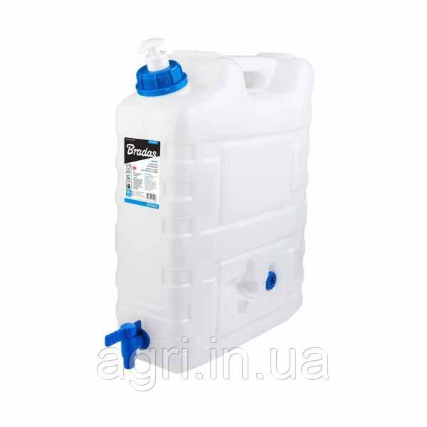 Канистра для воды, 20л, с краном и дозатором мыла