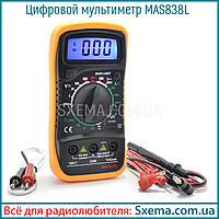 Мультиметр MAS838L с термопарой и прозвонкой, фото 1