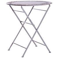 Столик садовый складной Мерибель Винтаж металл Grey D700 (AMF-ТМ)