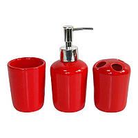 Набор аксессуаров для ванной комнаты, (Красные)