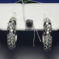 Серьги из серебра с цирконом 5740-р