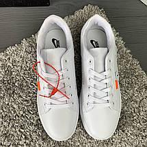 Кроссовки мужские в стиле Nike Air белые, фото 3