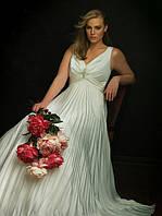 Изготовление плиссе-гофре полусолнце для свадебных платьев из ткани заказчика. Фото из Интернета.