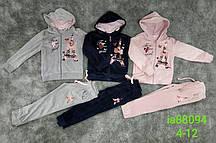 Велюровый костюм-двойка для девочек Setty Koop, 4-12 лет.