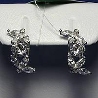 Серебряные серьги с цирконием Веночек 5413