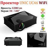🔥 Портативный мультимедийный проектор UNIC UC46 с Wi-Fi. LED-проектор UNIC UC46 с Wi-Fi.