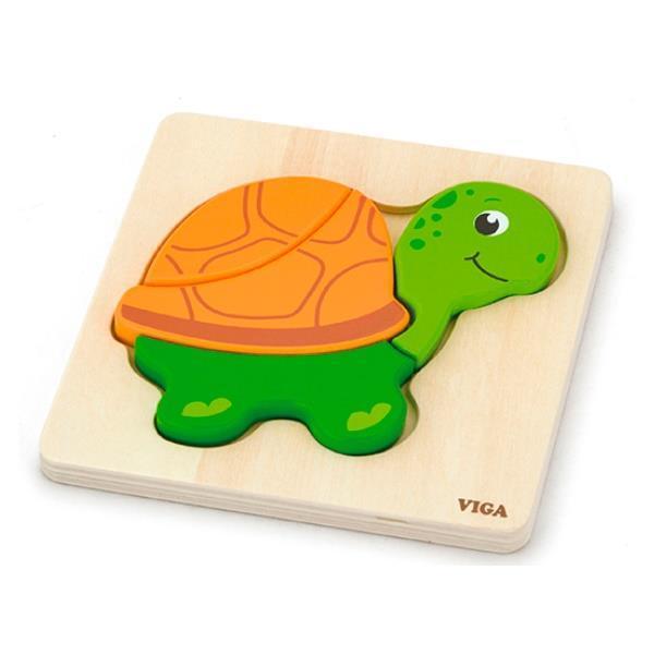 """Мини-пазл Viga Toys """"Черепаха"""" (59933)"""