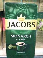 Якобс Монарх  230 гр Вакуум ***  МОЛОТЫЙ кофе  ****  12 (шт.)