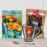 Подарок маме Чай + Чашка Мамина + ложечка + открытка