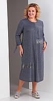Платье Novella Sharm-3319 белорусский трикотаж, серо-синий, 58