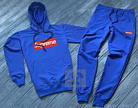 Мужской спортивный костюм в стиле Supreme blue осенний / весенний