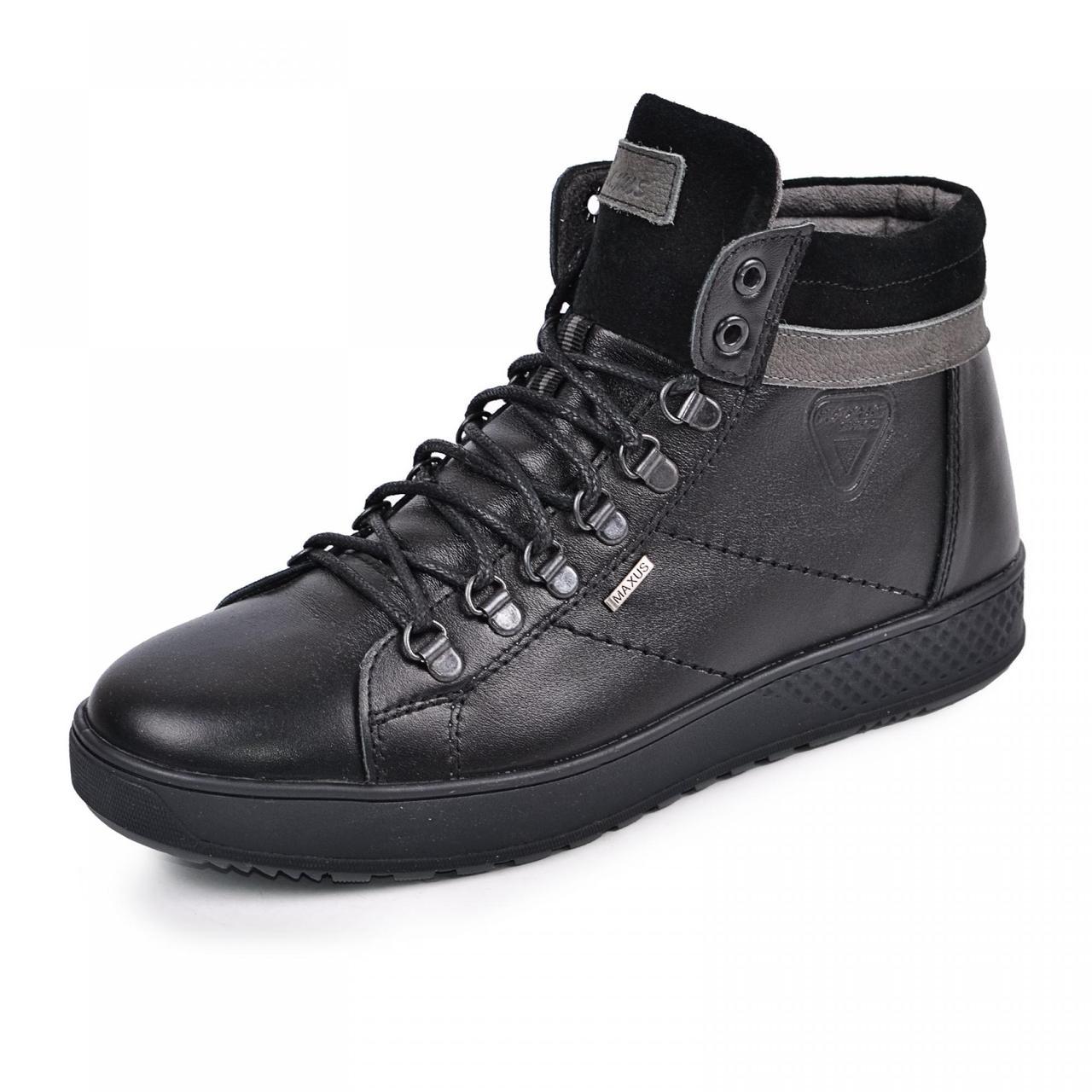 Ботинки мужские зимние 40-45 черная кожа