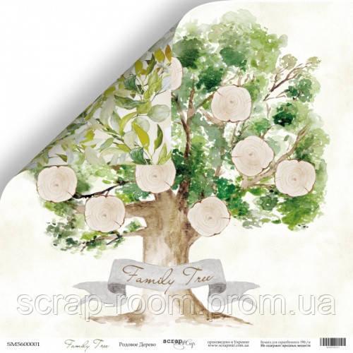 Лист двусторонней бумаги 30x30 от Scrapmir Родовое Дерево из коллекции Family Tree
