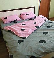 Качественное постельное белье Влюбленные, 2-спальный набор