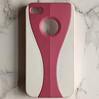 """Пластиковая двухцветная накладка """"Кубок"""" на белом фоне для Iphone 4/4S"""