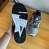 Кроссовки мужские в стиле Nike Huarache серые с черными вставками, фото 4