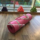 Каучуковый коврик для фитнеса NBR 1800х600х12мм, розовый, фото 3