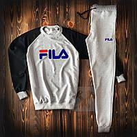 Мужской спортивный костюм в стиле FILA grey осенний / весенний