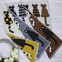 Хлопковое полотенце для лица с котиками