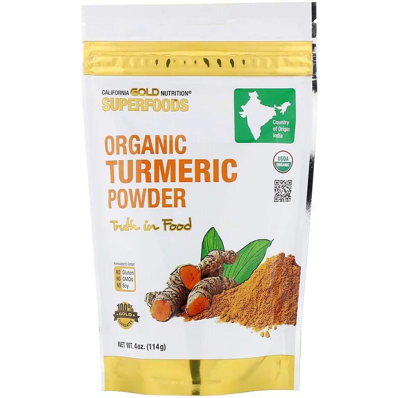 Куркума порошок органический, California Gold Nutrition, 114 г