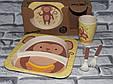 Посуда детская  MONKEY подарочный набор эко бамбук купить оптом со склада 7км Одесса, фото 2
