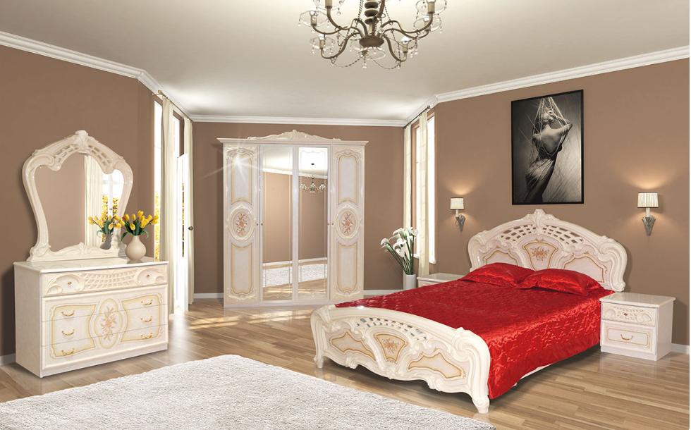 Спальня Кармен новая пино беж