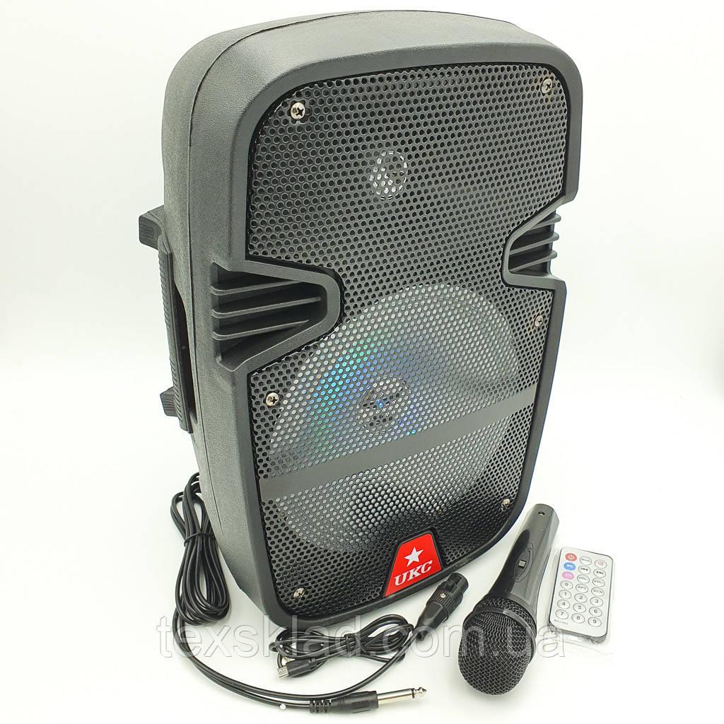 Колонка акумуляторная UKC RE-258/ 40W (USB/FM/Bluetooth)