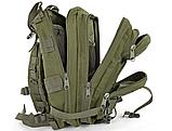 Тактический штурмовой военный рюкзак на 23-25 литров Traum зеленый, фото 2