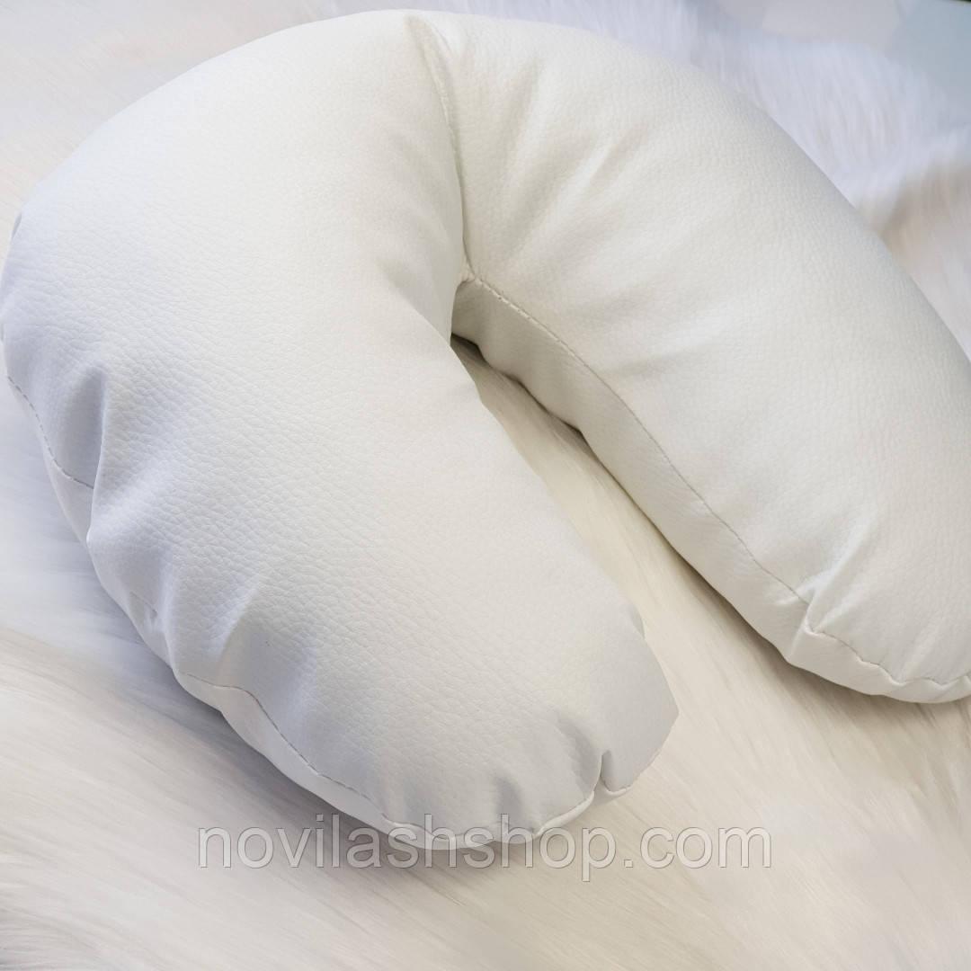Подушка під голову клієнта (еко-шкіра).Білий колір