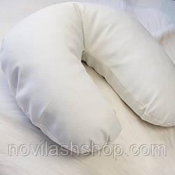 Подушка под голову клиента (эко-кожа).Белый цвет