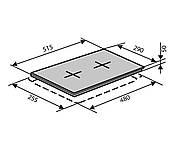Варочная электрическая поверхность две конфорки VENTOLUX HE 302 (WH) 2 белая, фото 3