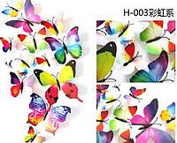 Набор бабочек с магнитом 12 шт (  цветные1)