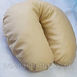 Подушка (эко-кожа) .Бежевый цвет