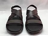 Стильные тёмно-коричневые кожаные сандалии Rondo, фото 8