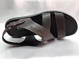 Стильные тёмно-коричневые кожаные сандалии Rondo, фото 4