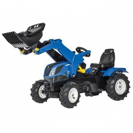 Детский педальный трактор New Holland Farmtrack Rolly Toys 611270. Машинка детская.