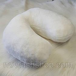 Подушка под голову клиента махра(синтепон) белая