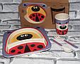 Посуда детская BEETLES подарочный набор эко бамбук купить оптом со склада 7км Одесса, фото 2