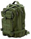 Тактический штурмовой военный рюкзак на 43-45 Traum литров зеленый, фото 3