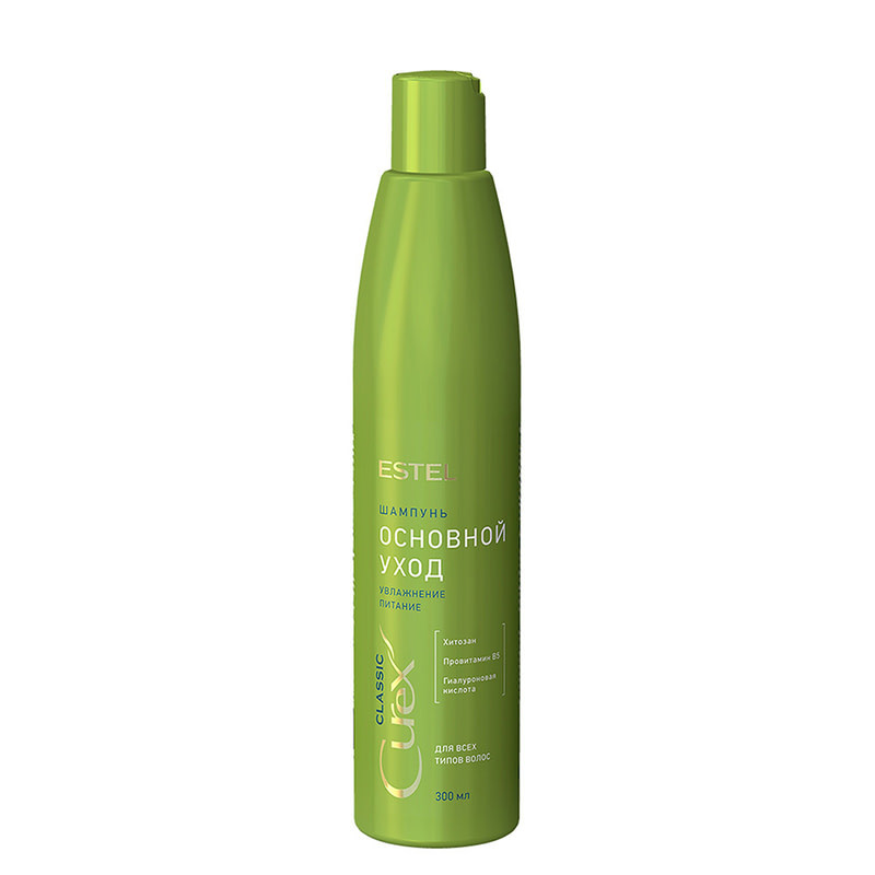 Шампунь для ежедневного использования для всех типов волос 300 мл Estel Curex Classiс
