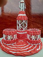 Набір романтичний на двох для вина з підсвічниками та декоративною підставкою