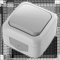 Вимикач 1кл зовнішній IP54 VIKO Palmiye Сірий