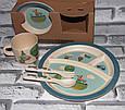 Посуда детская JOURNEY подарочный набор эко бамбук купить оптом со склада 7км Одесса, фото 2